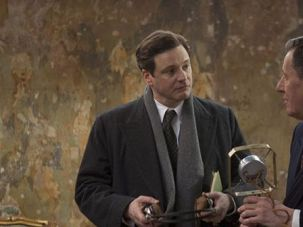 A Matter of General Concern: Colin Firth (left), who rises to the throne as King George VI, seeks help with his communication skills from unconventional speech therapist Lionel Logue, played by Geoffrey Rush.