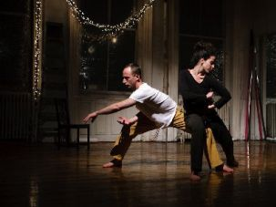Edo Ceder and Ella Ben-Aharon explore emotional and physical boundaries in their dance.