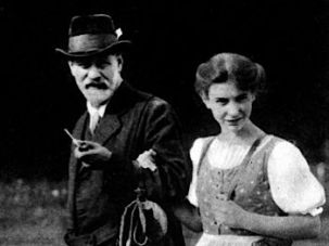 The influence of Anxieties: Anna Freud with her father, Sigmund.
