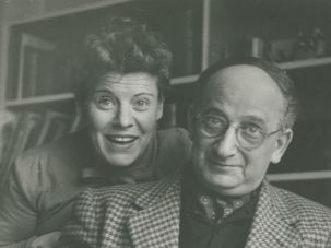 Margret and H.A. Rey, late 1940?s