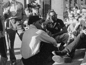 Bohemian Rhapsodizer: Ramblin? Jack Elliott plies his trade in Washington Square in 1955.