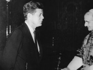 Rejecting Deicide: Vatican II, promulgated under Pope Paul VI (seen here with John F. Kennedy in 1963), articulated a new protocol for how Catholics view Jews.