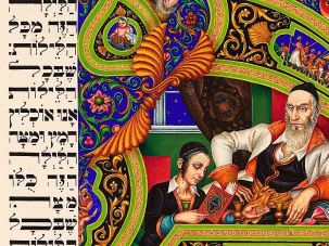 Illuminating Passover: ?The Four Questions? from Arthur Szyk?s Haggadah is on display at the Contemporary Jewish Museum in San Francisco.