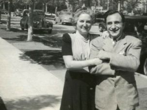 Family Stand: The author?s grandfather, Max Barish, poses with his wife Etta in Los Angeles.