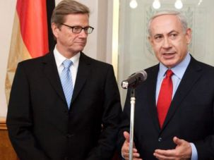 Benjamin Netanyahu and Germany?s Foreign Minister Guido Westerwelle in meeting in Jerusalem.