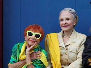 Fashionable Friends: Ilona Royce Smithkin, Joyce Carpati and Lynn Dell Cohen feature in Plioplyte's film.