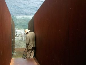 Gazing At The Sea And Art: Allen Grossman at Portbou on the Spanish- French border.