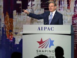 Senator Robert Menendez Speaks at a recent AIPAC conference.