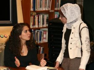 On Message: Malek speaks at a book event at the Arab American National Museum in Michigan.