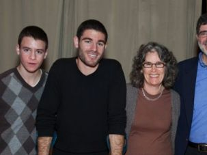 Mourning: Avi, far right, with his family.