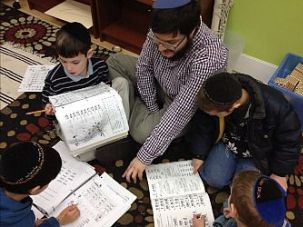 Students at the Lamplighters Yeshivah in Crown Heights.