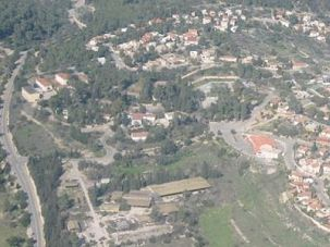 A Mississippi-to-Moshav Journey: An ariel view of Srigim, a village in central Israel, where the author lives.
