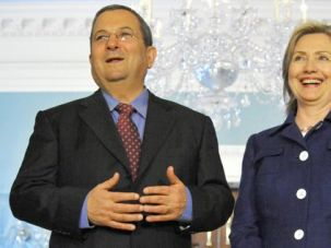 Old Friends: Barak meets with Hillary Rodham Clinton, secretary of state.