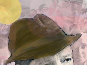He Had His Pen: Saul Bellow surrounded by his correspondents, including Robert Penn Warren, Teddy Kollek, Ralph Ellison, Philip Roth, Bernard Malamud, John Berryman and Richard Stern.