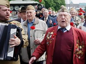 Old Guard, New Wave: Russian Jewish veterans of the Red Army, now living in Berlin, celebrate the Soviet Union?s World War II victory over Germany on ?Liberation Day,? May 10.