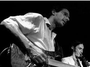 David Konopnicki and his fretless guitar.