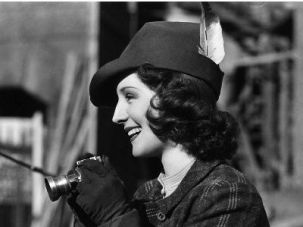 Norma Shearer, the leading actress in ?Escape.?