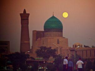 On the Silk Road: The famous Kalyan Mosque in Bukhara, Uzbekistan.