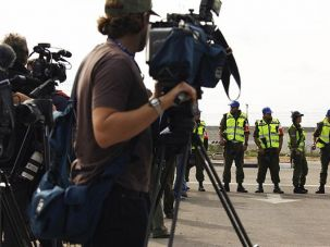 Journalists on The Front Line: The Israeli government?s decision to keep journalists out of Gaza during the conflict earlier this year has become a flash point in a fight between journalist unions.