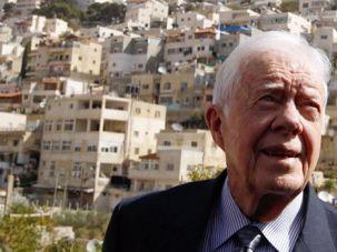 Former President Jimmy Carter visits East Jerusalem in 2010.
