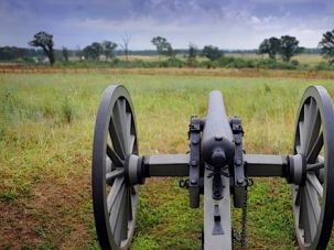 On Cemetery Ridge: This cannon rests at Gettysburg National Military Park, where the battle that raged from July 1-3, 1863, was the bloodiest of the Civil War, turning the tide of victory from South to North.