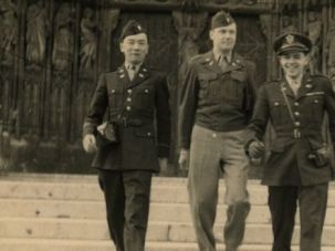 Man in Uniform: David Mark Olds (right) served in America?s occupation of Vienna, where he bought the tea set.
