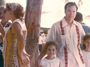 A Family Affair: The author, right, with her father, Richard D. Copaken, and her younger sister, Jennifer, at Flamenco Beach, Culebra, Puerto Rico, c. 1975.