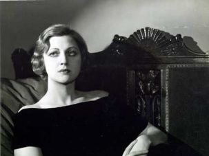 Seated portrait of Stella Adler.