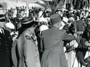 Endgame: French President Charles de Gaulle visits Touggourt, Algeria, in 1958, not long after proposing a peace agreement, but four years before the country won its independence.