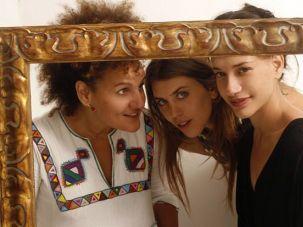 Unlikely Coupling: From left, HaBanot Nechama members Karolina, Dana Adini and Yael Decklebaum.