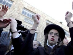 Won?t Go!: Haredi youth in Jerusalem protest proposals to conscript ultra-Orthodox men into the military.