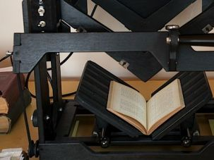 Close Read: The National Yiddish Book Center's new scanner zooms in on a Yiddish book.