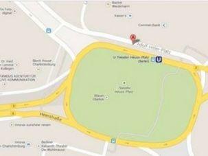 Google Maps screen-capture featuring Adolf-Hitler-Platz, from Tech Crunch.