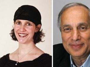 Rabba and Rabbi: Rabbi Avi Weiss (right) conferred upon Sara Hurwitz (left) the title of 'rabba.'