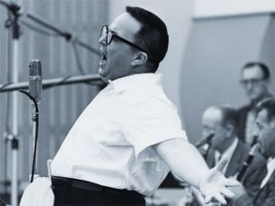 Belting It Out: Allan Sherman singing at a session for ?My Son, the Folk Singer? or My Son, the Celebrity? in fall or winter 1962.