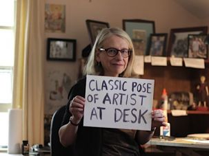 "Classic Pose: Five years after her parents passed away, Roz Chast completed a graphic memoir about what she called ""the journey we took into the last part of their life."""