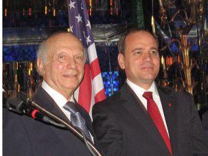 Rabbi Arthur Schneier and Bujar Nishani, president of Albania
