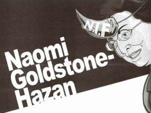 Accusation: A group called Im Tirtzu ran this advertisement blaming NIF President Naomi Chazan for the Goldstone Report.