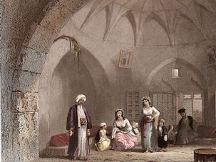 Before the Identity Crisis? The interior of the house of a Christian family in Jerusalem, ca. 1850.