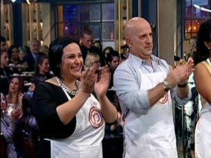 The three finalists of Israel?s reality show ?Master Chef?: Nof Atamna-Ismaeel, Ido Kronenberg and Meseret Woldimikhal.