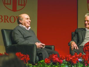Nathan Sharansky (L) and Michael Douglas (Right)