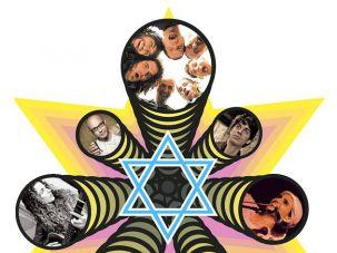 The God Squad: Clockwise from the top, HaDag Nachash, Shai Gabso, Etti Ankri, Meir Banai, Shuli Rand, Alma Zohar and Kobi Oz, all represent the new rock ?n? roll interest in Jewish learning.