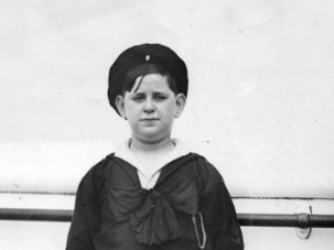 Cutie Cantor: Believed to be the youngest cantor in the world, 12 year old Kalmele Weitz arrived in New York City in July, 1928 from Posen, Germany. He had already been singing half his life.