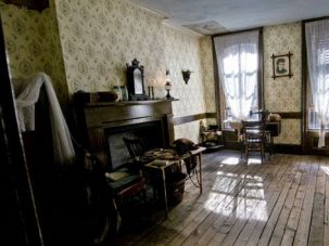 Echoes of the Past: This room at 97 Orchard Street is restored to look as it might have in the 1870s and 1880s, when the Jewish Gumpertz family from Prussia lived in the building