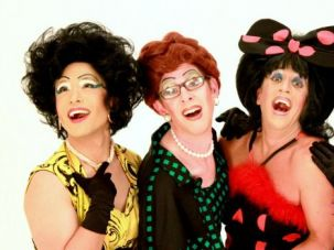 Berle-Esque: The Kinsey Sicks label themselves as a ?Dragapella Beauty Shop Quartet.?