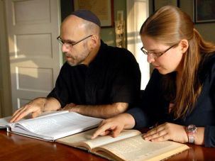 Jonathan Kremer is the first father to follow his daughter into rabbinical school. (Photo by Peter Tobia)