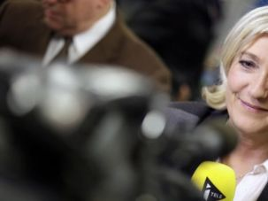 Victor: French far-right party Front National (FN) president Marine Le Pen speaks to journalists at the FN headquarters after the results of the France municipal elections? second round, on March 30.