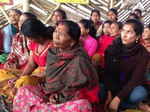 Encounter: Women in Mahadev Besi meet with the Tevel b'Tzedek board.