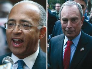 The Candidates: Democrat Bill Thompson, left, and Republican Michael Bloomberg.