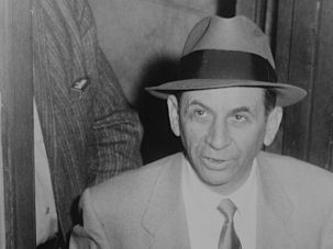 """The Talented Mr Lansky: In Zachary Lazar's novel """"I Pity the Poor Immigrant"""" many of the characters assembled, such as Meyer Lansky (above) have little to do with one another."""